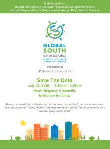 Save the date: Global South Metro Exchange @ Hyatt Regency Greenville