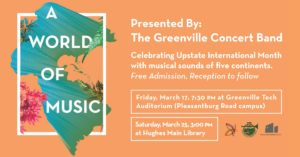 International Spring Concert: A World of Music @ Greenville Technical College
