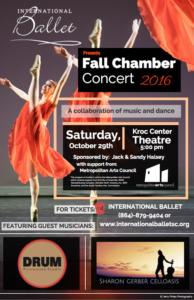 International Ballet's Fall Chamber Concert @ Kroc Center Theater | Greenville | South Carolina | United States