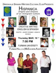 Hispanica: Origins and Dreams of an Immigrant Culture @ Furman University, Furman Hall 214  | Greenville | South Carolina | United States