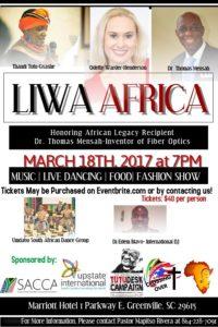 African Gala:  LIWA Africa @ Marriott Hotel | Greenville | South Carolina | United States