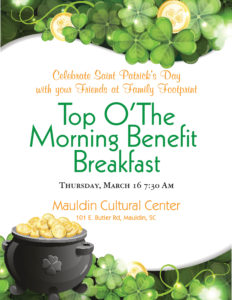 Top O' The Morning Benefit Breakfast @ Mauldin Cultural Center | Mauldin | South Carolina | United States