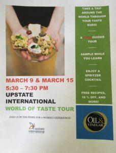 World of Taste Tour @ Oil & Vinegar @ Oil & Vinegar | Greenville | South Carolina | United States