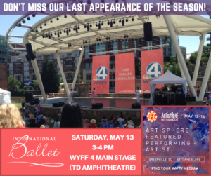 International Ballet's Last Appearance of the Season and it's FREE @ Peace Center TD Stage Amphitheater