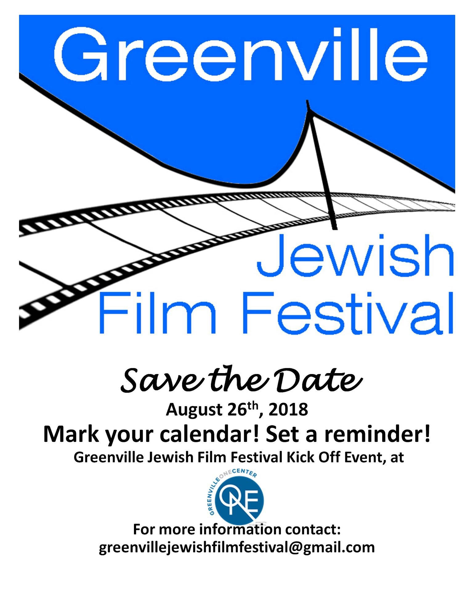 Greenville Jewish Film Festival Kick Off Event @ Greenville One Center | Greenville | South Carolina | United States