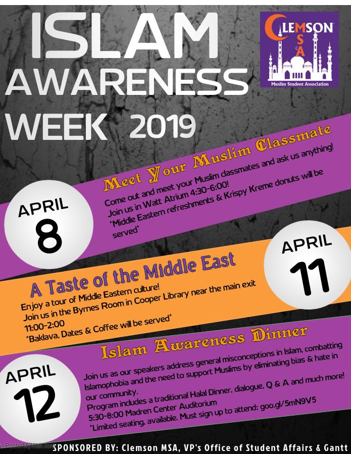 Islam Awareness Week at Clemson University
