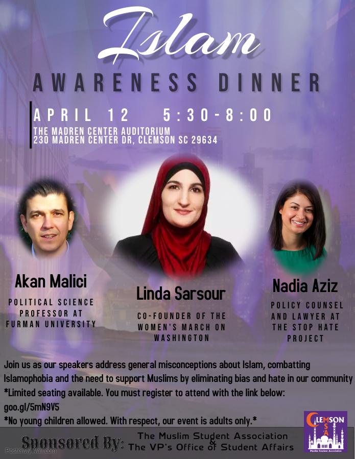 Islam Awareness Dinner @ Madren Center Auditorium