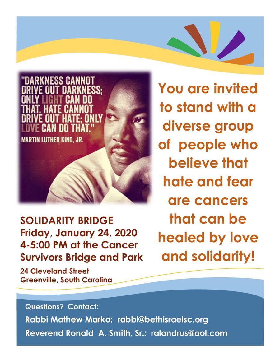 The Solidarity Bridge in honor of the legacy of Dr. Martin Luther King @ Cancer Survivors Bridge and Park