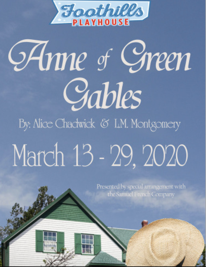 CANCELLED - Anne of Green Gables - Foothills Playhouse, Easley, SC @ The Foothills Playhouse