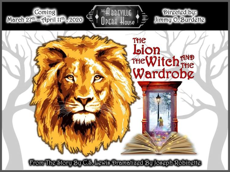 POSTPONED - Lion, The Witch and The Wardrobe - Abbeville Opera House, Abbeville, SC @ The Abbeville Opera House